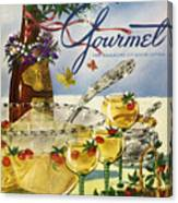 Gourmet Cover Featuring A Bowl And Glasses Canvas Print