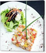 Gourmet Raw Tuna Tartare Ceviche With Mango Lime And Chilli Canvas Print