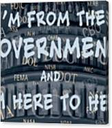 Government Help Canvas Print