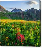 Governor's Basin In Bloom Canvas Print