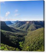 Govetts Leap Lookout Panorama, Australia Canvas Print