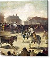Goya: Bullfight, 1793 Canvas Print