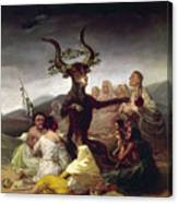 Goya: Witches Sabbath Canvas Print