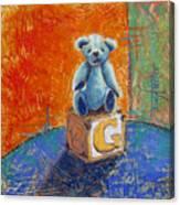 Gq Teddy Canvas Print