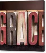 Grace - Antique Letterpress Letters Canvas Print
