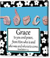 Grace - Bw Graphic Canvas Print