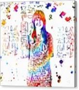 Grace Slick Jefferson Airplane Paint Splatter Canvas Print