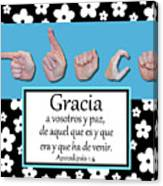 Grace Spanish - Bw Graphic Canvas Print