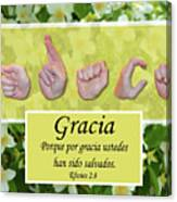 Grace Spanish Canvas Print