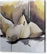 Graceful Pears Canvas Print