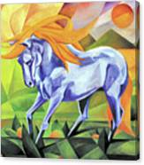 Graceful Stallion With Flaming Mane Canvas Print