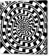 Gradient Tunnel Spin Maze Canvas Print