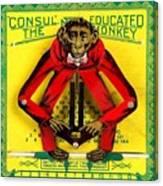 Graduation Monkey Canvas Print