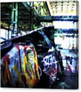 Graffiti Car Canvas Print