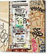 Graffiti Doorway New Orleans Canvas Print