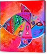 Graffiti Fish Canvas Print