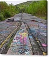 Graffiti Highway, Facing South Canvas Print