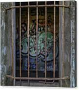 Graffiti Is Barred Canvas Print