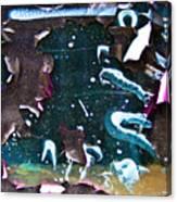 Graffiti Peeling Canvas Print