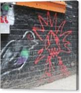 Graffiti Pigeon Canvas Print