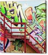 Graffiti Steps Canvas Print