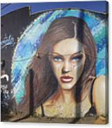 Graffiti Street Art Mural Around Melrose Avenue In Los Angeles, California  Canvas Print