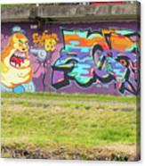 Graffiti Under A Bridge Canvas Print
