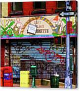Graffiti Village Store Nyc Greenwich  Canvas Print