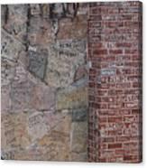 Graffiti Wall Graceland Memphis Tennessee Canvas Print