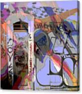 Graffitis Front Door Canvas Print
