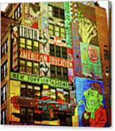 Graffitti On New York City Building Canvas Print