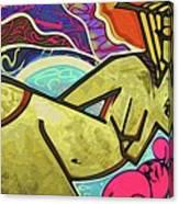 Grafitti Curves Canvas Print