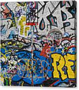 Grafitti On The U2 Wall, Windmill Lane Canvas Print
