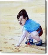 Graham On The Sand Canvas Print
