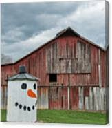 Grain Bin With Smile Canvas Print