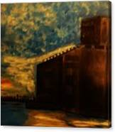 Grain Elevator On Lake Erie From A Photo By Nicole Bulger Canvas Print