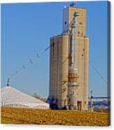 Grain Storage Hdr No1 Canvas Print