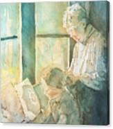 Gramdma Braids Canvas Print