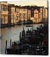 Grand Canal In Venice From The Rialto Bridge Canvas Print