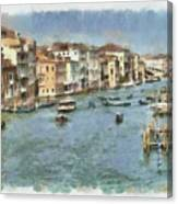 Grand Canal In Venice Canvas Print