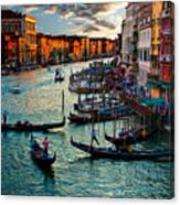 Grand Canal Sunset Canvas Print