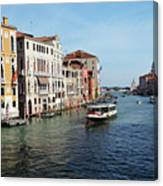 Grand Canal View At The Academy Bridge Canvas Print