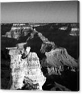 Grand Canyon Black And White Canvas Print