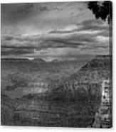 Grand Canyon Bw Canvas Print
