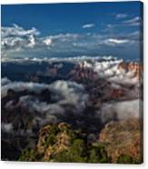Grand Canyon Fog Canvas Print