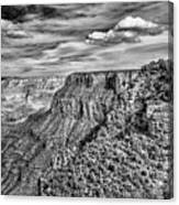 Grand Canyon In Black And White Canvas Print