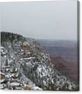 Grand Canyon In Snow Canvas Print
