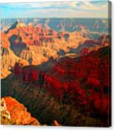 Grand Canyon National Park Sunset On North Rim Canvas Print