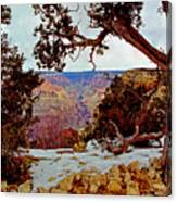 Grand Canyon National Park - Winter On South Rim Canvas Print