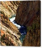 Grand Canyon Of The Yellowstone 1 Canvas Print